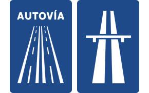 Autowelt - Beschilderung für mautfreie Autovía und mautpflichtige Autopista