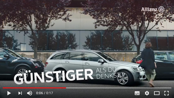 Vorschau YouTube Video Allianz Kfz-Versicherung