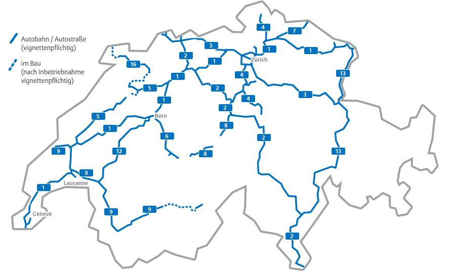Geschwindigkeitsbegrenzung Autobahn Deutschland Karte.Vignette Schweiz 2019 Preise Gültigkeit Und Mehr Autowelt